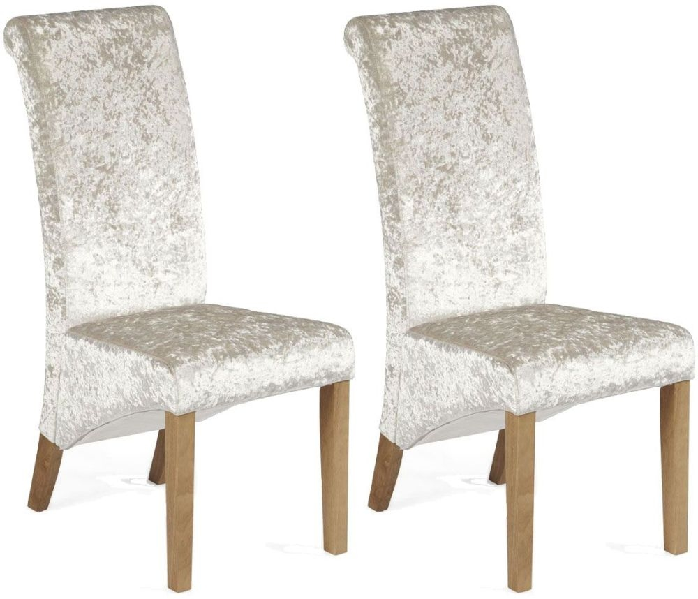 Vida Living Jasmine Button Back Fabric Dining Chair - Beige (Pair)