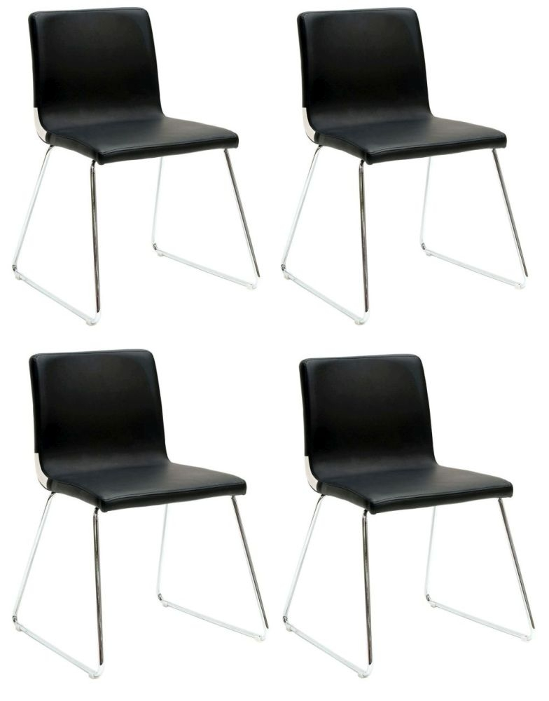 Vida Living Optic Black Dining Chair (Sold in boxes of 4)