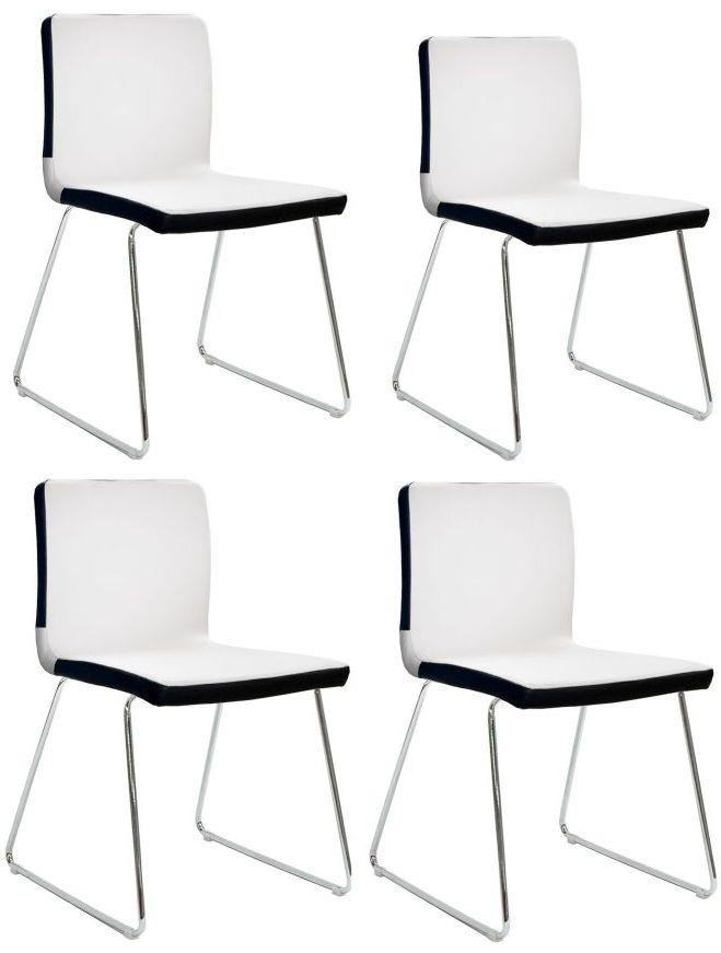 Vida Living Optic White Dining Chair (Set of 4)
