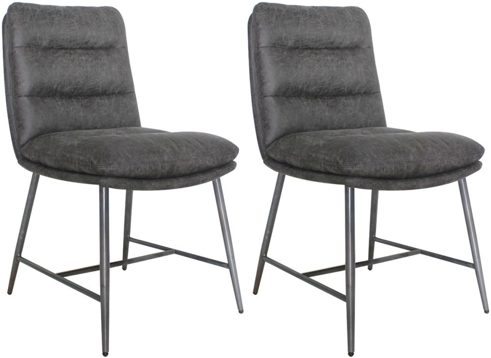 Vida Living Romy Hickory Fabric Dining Chair (Pair)