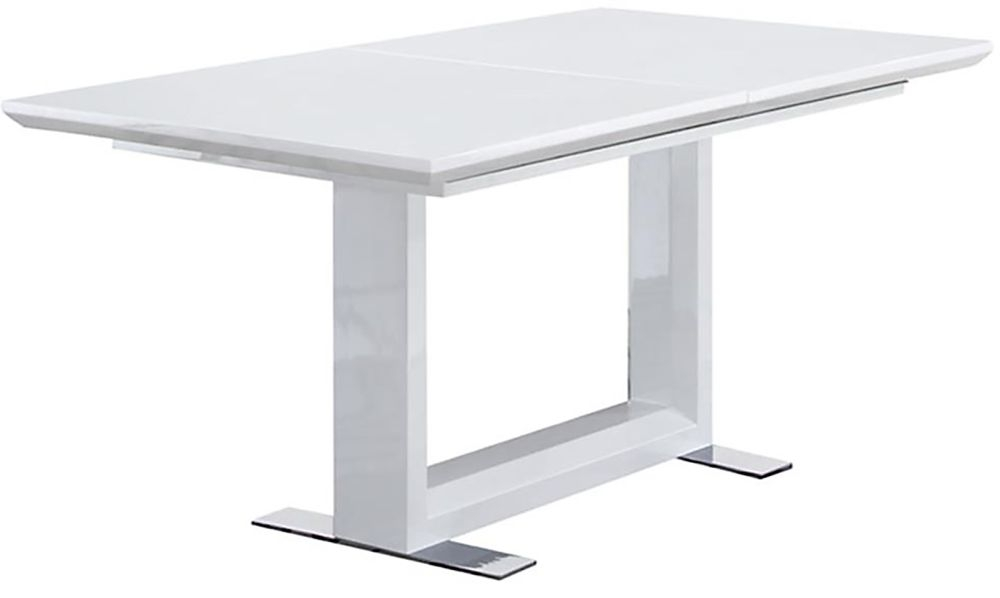 Vida Living Allure White Gloss Extending Dining Table