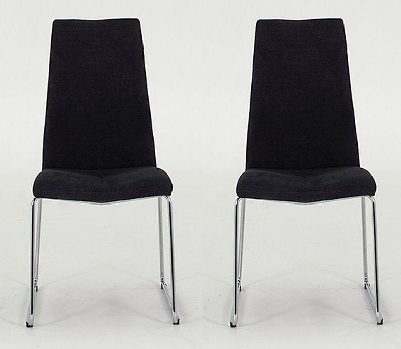 Vida Living Evoque Charcoal Dining Chair (Pair)