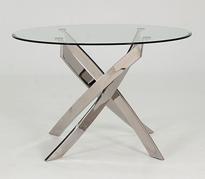 Buy vida living kalmar round glass top dining table for 110cm round glass dining table