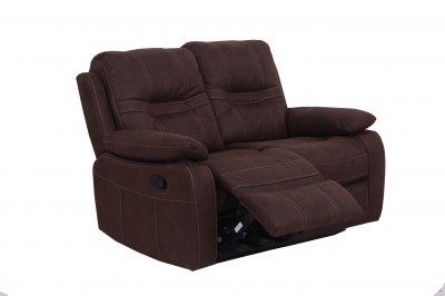 Vida Living Corelli 2 Seater Fabric Recliner Sofa - Brown