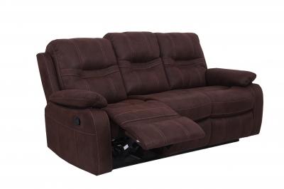 Vida Living Corelli 3 Seater Fabric Recliner Sofa - Brown