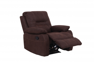 Vida Living Corelli Fabric Recliner Armchair - Brown