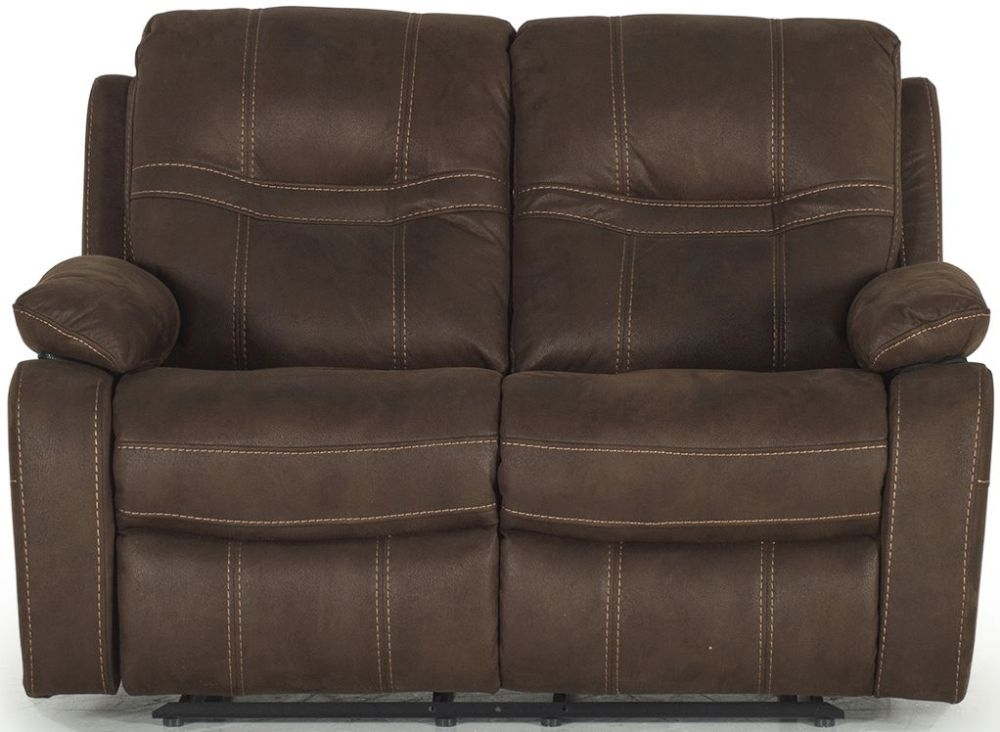 Vida Living Corelli Brown Fabric 2 Seater Recliner Sofa