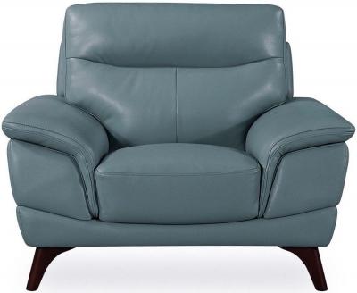 Vida Living Cosimo Blue Leather Armchair