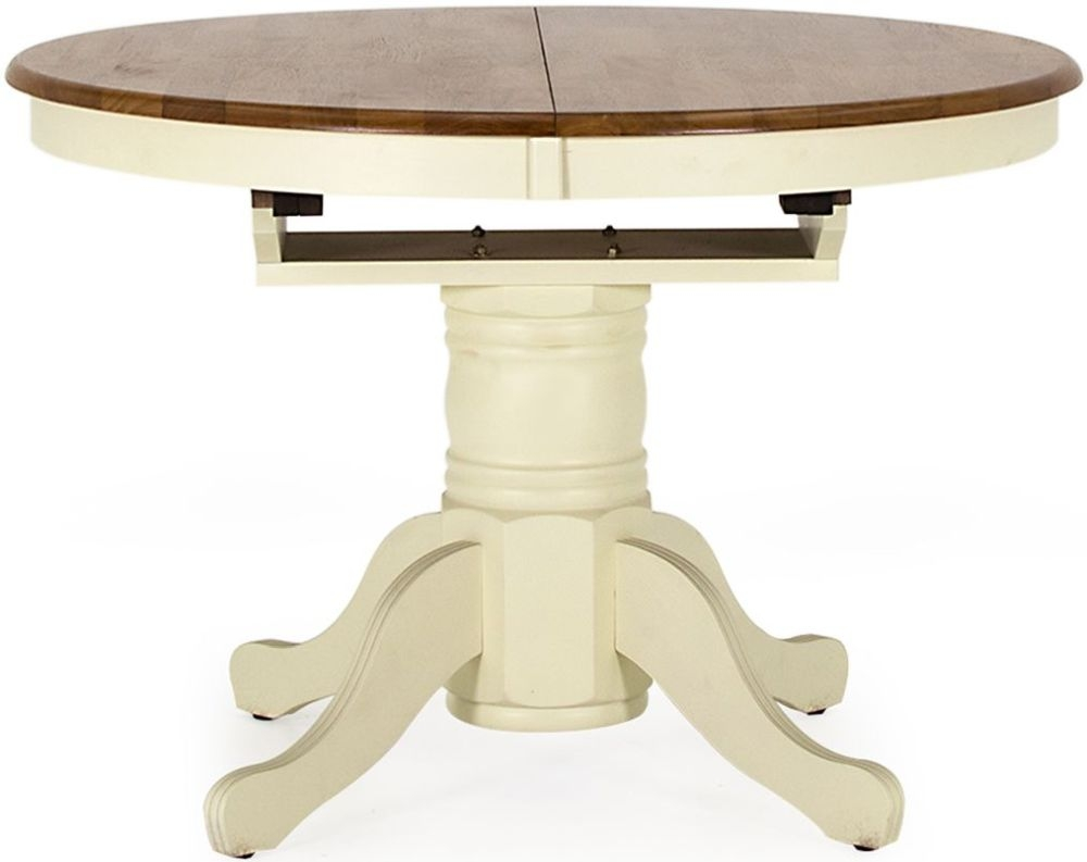 Vida Living Cotswold Painted Round Extending Dining Table - 107cm-150cm