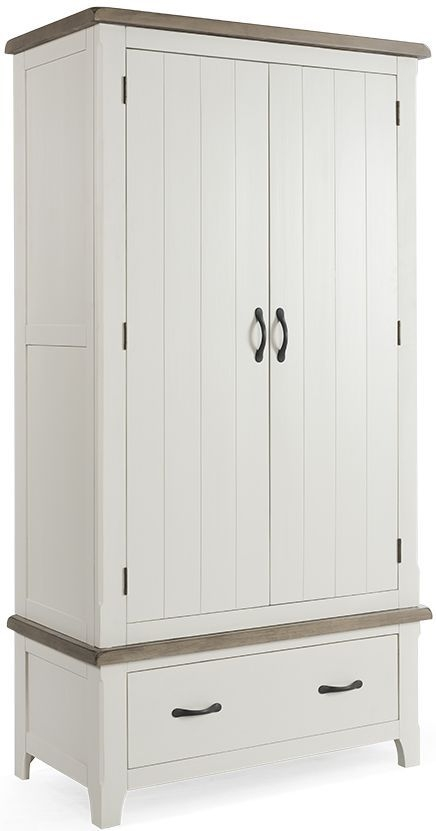Vida Living Cranmore Pine 2 Door 1 Drawer Double Wardrobe