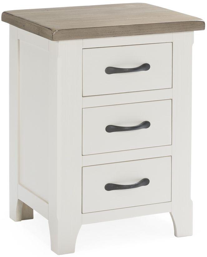 Vida Living Cranmore Pine 3 Drawer Bedside Cabinet