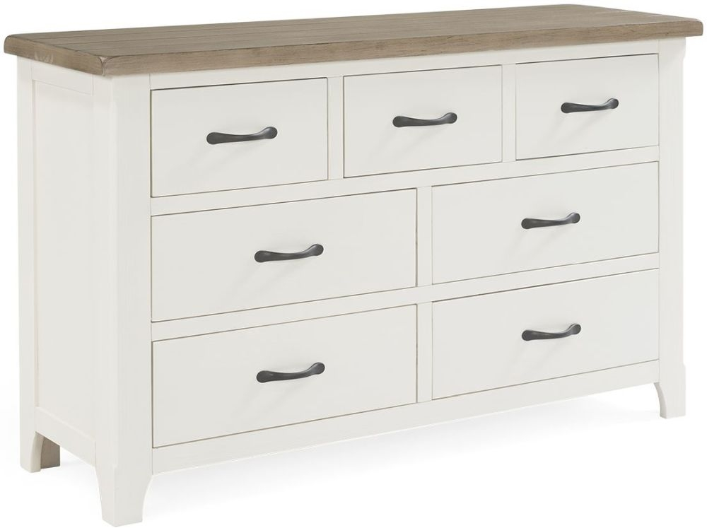 Vida Living Cranmore Antique White 4+3 Drawer Chest