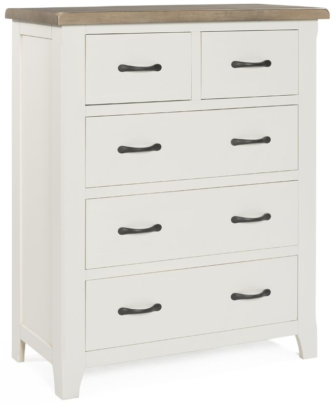 Vida Living Cranmore 3+2 Drawer Chest - Antique White