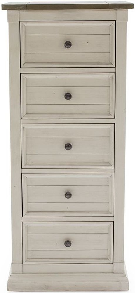 Vida Living Croft Ivory Painted 5 Drawer Chest