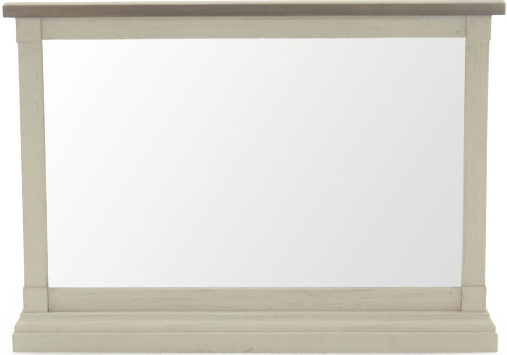 Vida Living Croft Ivory Painted Rectangular Wall Mirror