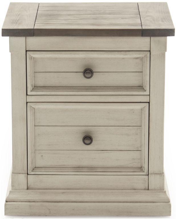 Vida Living Croft Painted 2 Drawer Bedside Cabinet