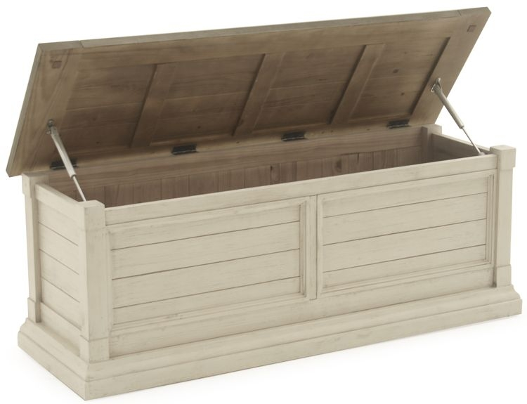 Vida Living Croft Blanket Box - Ivory Painted