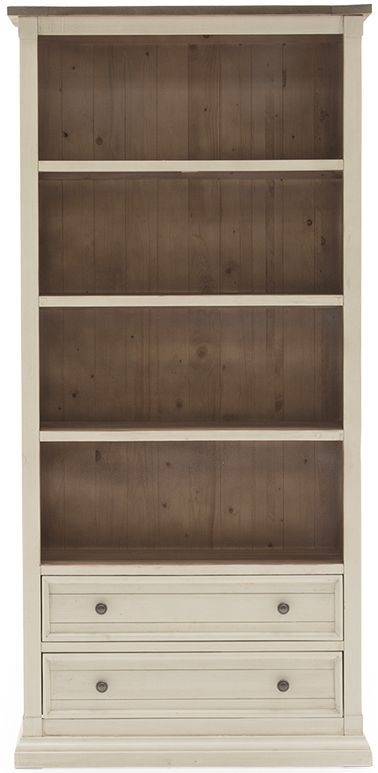 Vida Living Croft Ivory Painted Bookcase