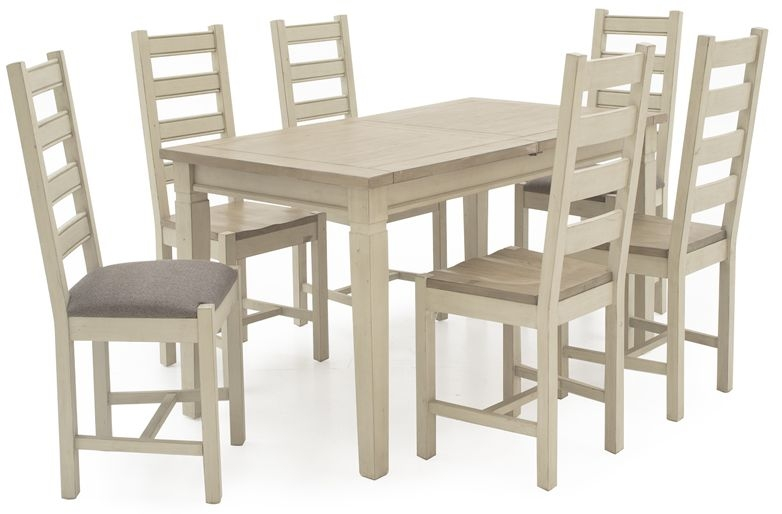 Vida Living Croft Painted Rectangular Extending Dining Set with 4 Chairs - 160cm-210cm