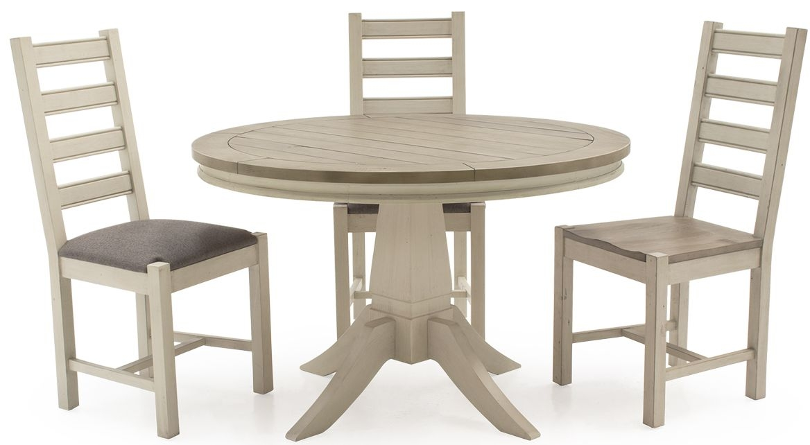 Vida Living Croft Painted Dining Set - Round with 4 Chairs