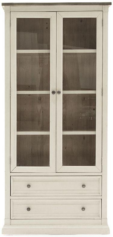 Vida Living Croft Ivory Painted Display Cabinet
