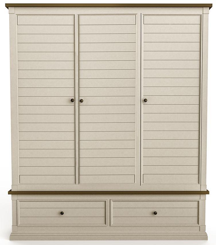 Vida Living Croft Painted Triple Wardrobe - 3 Door 2 Drawer