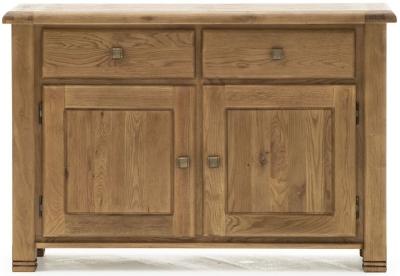 Vida Living Danube Natural Oak 2 Door 2 Drawer Narrow Sideboard
