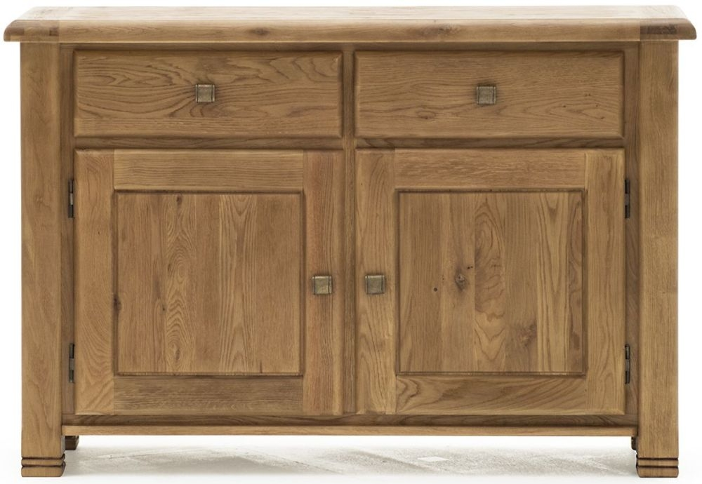 Vida Living Danube Natural Oak 2 Door 2 Drawer Narrow Sideboard