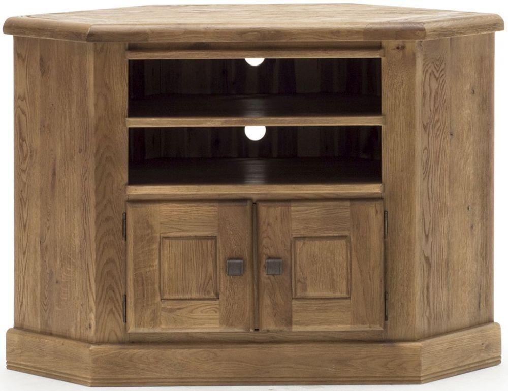Buy Vida Living Danube Natural Oak 2 Door Corner Tv Unit Online Cfs Uk