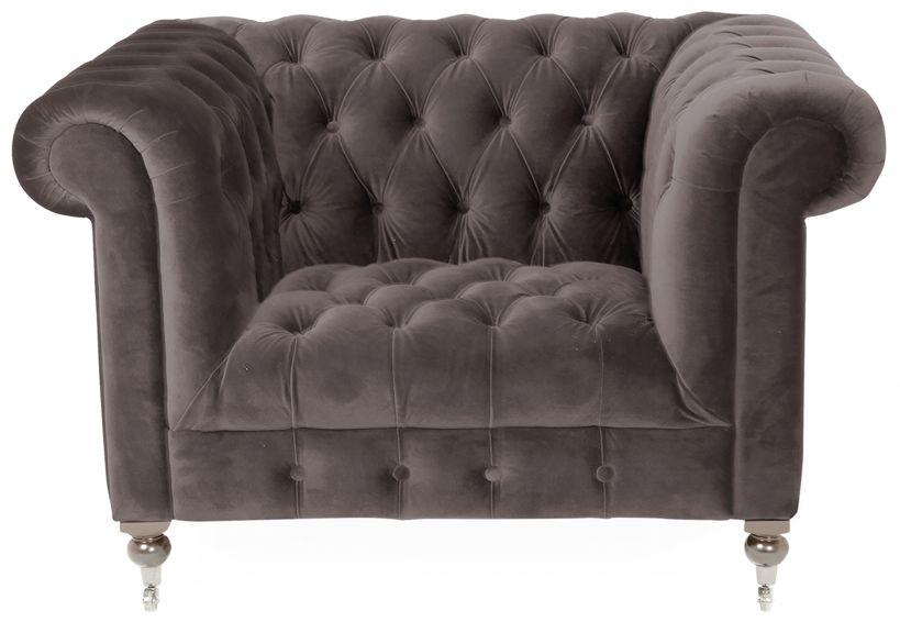 Vida Living Darby Mink Velvet 1 Seater Sofa