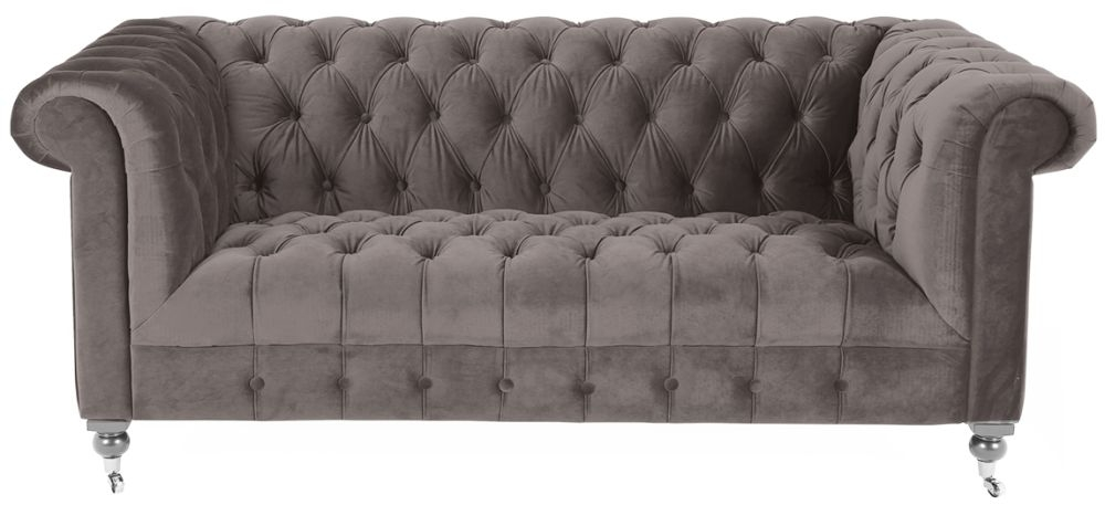 Vida Living Darby Mink Velvet 2 Seater Sofa