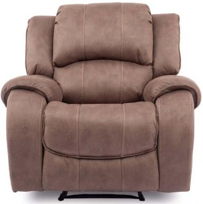 Vida Living Darwin Biscuit Fabric Electric Recliner Chair