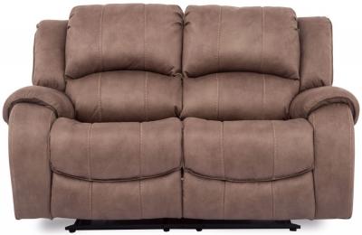 Vida Living Darwin Biscuit Fabric 2 Seater Recliner Sofa