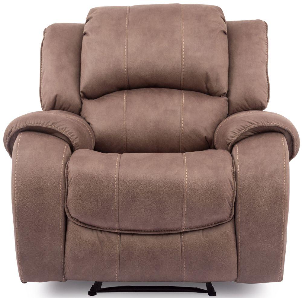 Vida Living Darwin Biscuit Fabric Recliner Chair