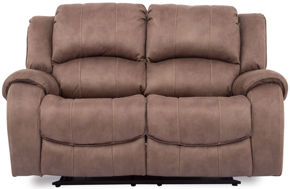 Vida Living Darwin Biscuit Fabric 2 Seater Recliner Sofa