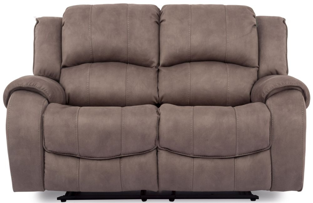 Vida Living Darwin Smoke 2 Seater Fabric Recliner Sofa