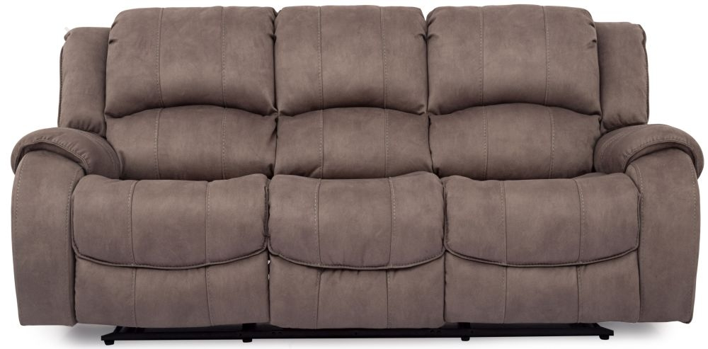 Vida Living Darwin Smoke Fabric 3 Seater Recliner Sofa