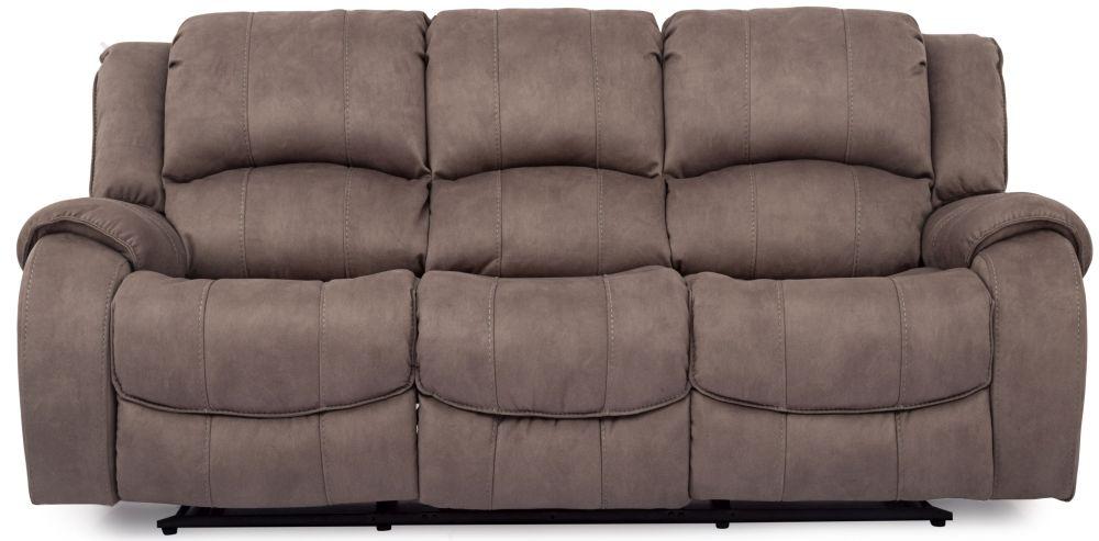 Vida Living Darwin Smoke 3 Seater Fabric Recliner Sofa