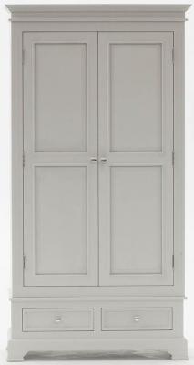 Vida Living Deauville Dove Grey 2 Door Wardrobe