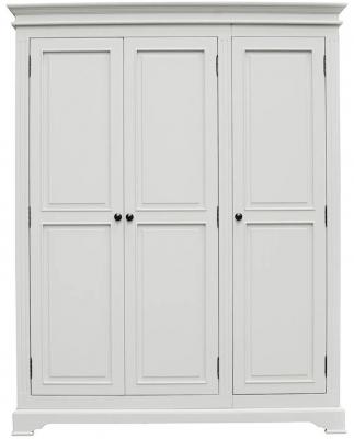 Vida Living Deauville Dove Grey 3 Door Wardrobe