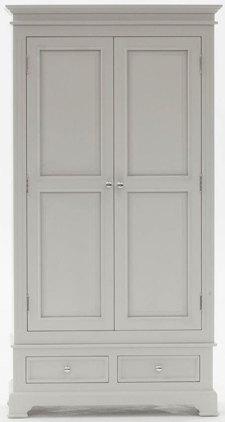 Vida Living Deauville Dove Grey 2 Door Wardrobe
