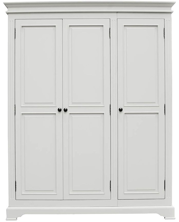 Vida Living Deauville Dove Grey 3 Door Wardrobe