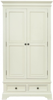Vida Living Deauville Ivory Painted Wardrobe - 2 Door 2 Drawer