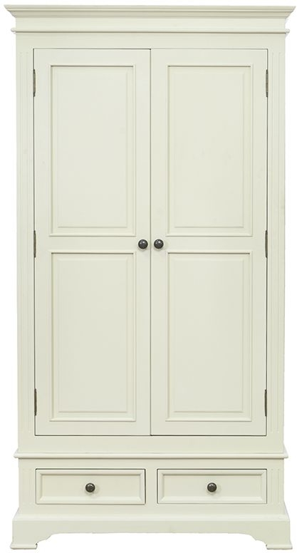 Vida Living Deauville Ivory Painted Double Wardrobe - 2 Door 2 Drawer