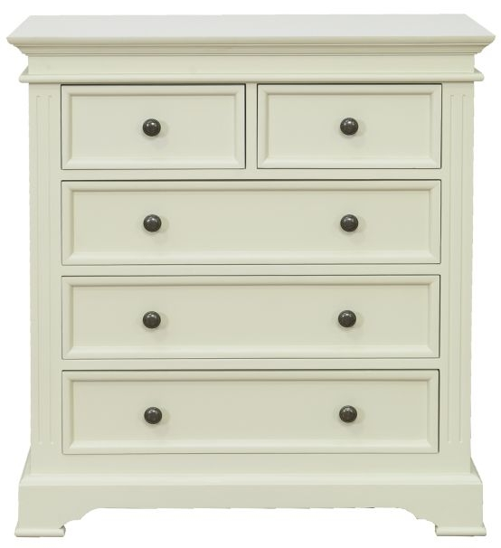 Vida Living Deauville Painted Chest of Drawer - 2 Over 3 Drawer