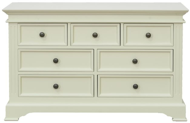 Vida Living Deauville Painted Chest of Drawer - 3 Over 4 Drawer