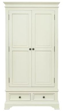 Vida Living Deauville Painted Wardrobe - 2 Door 2 Drawer