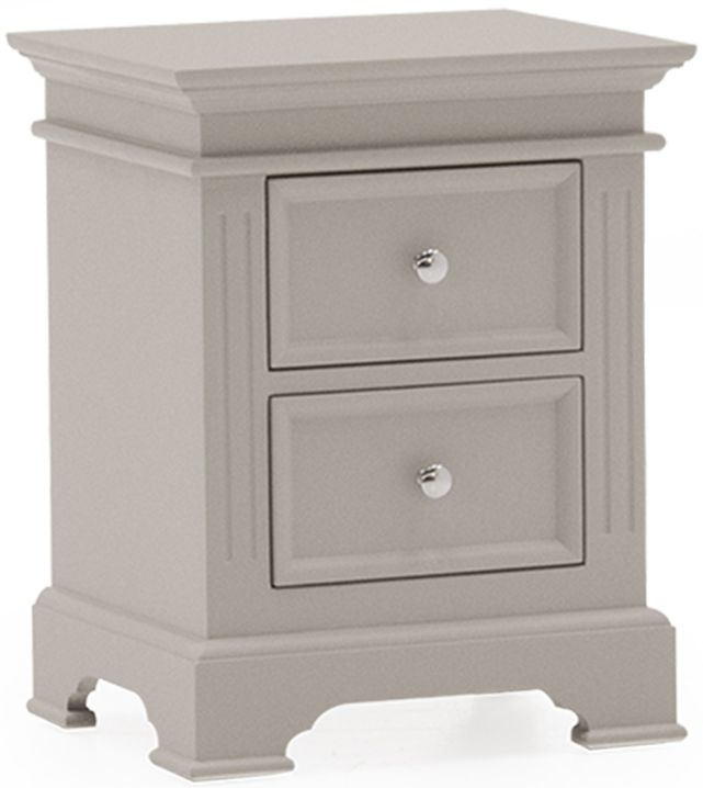 Vida Living Deauville Taupe Painted 2 Drawer Bedside Cabinet