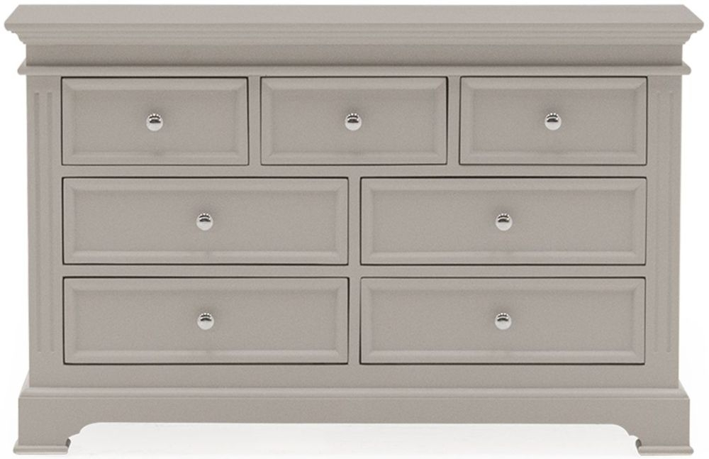 Vida Living Deauville Taupe Painted 4+3 Drawer Dressing Chest
