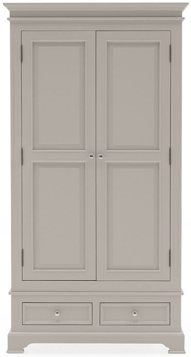 Vida Living Deauville Taupe Painted Wardrobe - 2 Door 2 Drawer